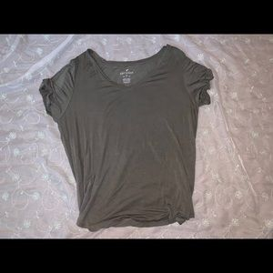 Army green v neck